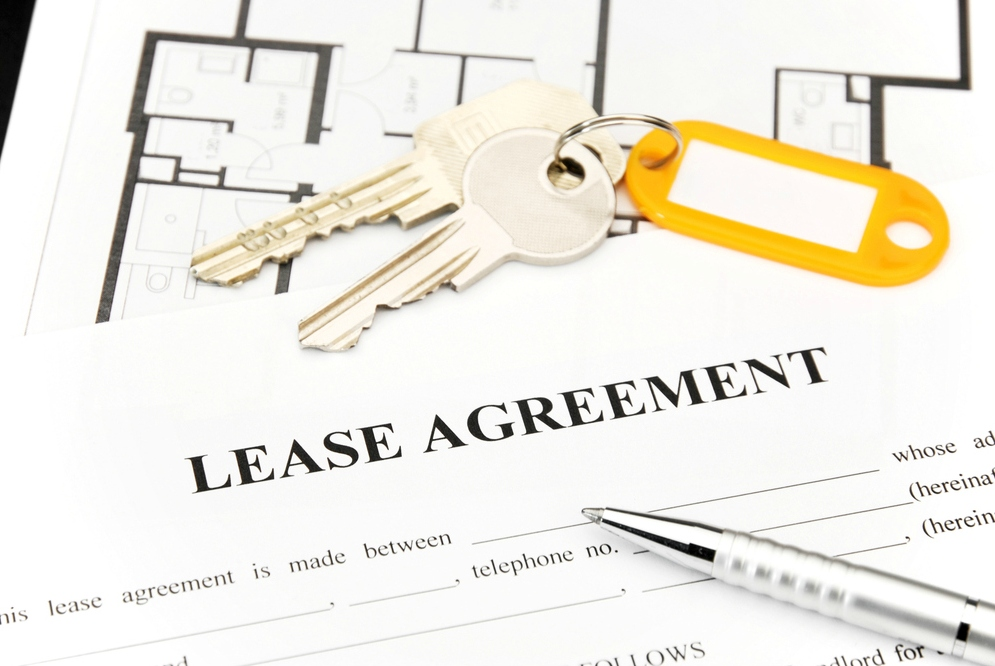 Rent contract with keys